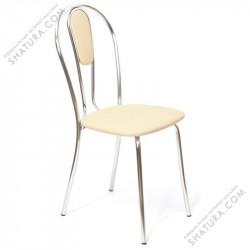 Столы, стулья Стул каркас хром, к/з бежевый Z21, 482820