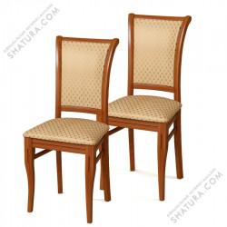 Столы,стулья Компл. 2 шт. Стул Алькор дикий орех, с каннелюром тк.39