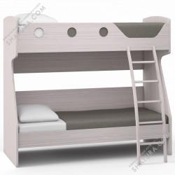 Кровать двухъярусная Flash светлый, Rimini Ice,Rimini Mokko AE4-01.CG,  (сп.место 80*200см)